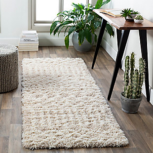 "Machine Woven Urban Shag 2'7"" x 10' Runner, Taupe, rollover"