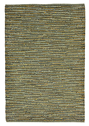 "Home Accents 7'6"" x 9'6"" Indoor/Outdoor Rug, Green, large"