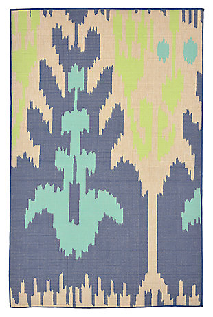 "Home Accents 4'10"" x 7'6"" Indoor/Outdoor Rug, Multi, large"