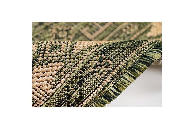 "Liora Manne Mateo Tribal Indoor/Outdoor Rug 23"" x 7'6"", Green, large"