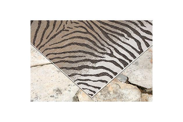 "Liora Manne Mateo Jungle Cat Indoor/Outdoor Rug 23"" x 7'6"", Beige, large"