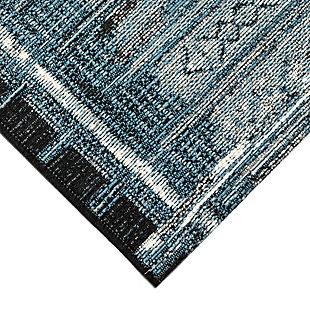 """Liora Manne Gorham Decorative Stripe Indoor/Outdoor Rug 23"""" x 7'6"""", Navy, large"""