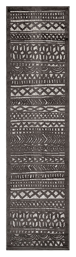 "Liora Manne Taloni Bengal Stripe Indoor/Outdoor Rug 23"" x 7'6"", , large"