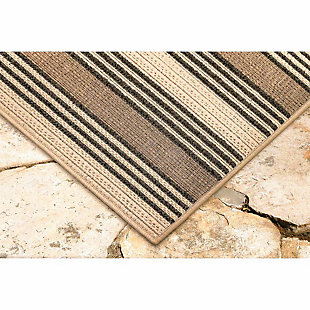 """Liora Manne Gilee Ribbons Indoor/Outdoor Rug 23"""" x 7'6"""", Tan, large"""