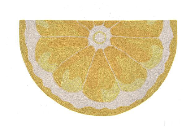 "Liora Manne Deckside Limon Indoor/Outdoor Rug 24"" x 36"", Yellow, large"