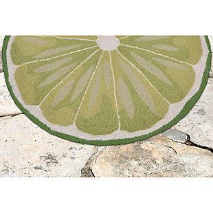 "Liora Manne Deckside Cool Sour Indoor/Outdoor Rug 24"" x 36"", Green, rollover"