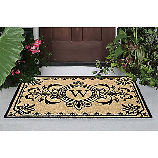 "Liora Manne Hunter Monogram Outdoor Rug 24"" x 36"", Black, rollover"