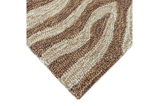 "Liora Manne Highlands Safari Indoor/Outdoor Rug 24"" x 8', Brown, large"