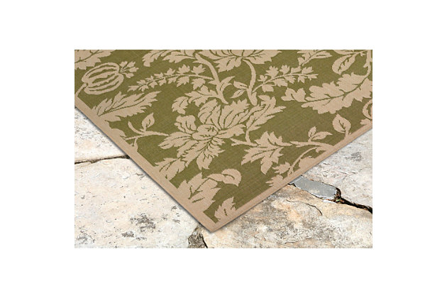 """Home Accents 4'10"""" x 7'6"""" Indoor/Outdoor Rug, Green, large"""