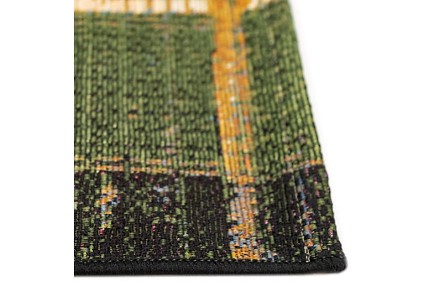 """Liora Manne Gorham Decorative Stripe Indoor/Outdoor Rug 39"""" x 59"""", Green, large"""