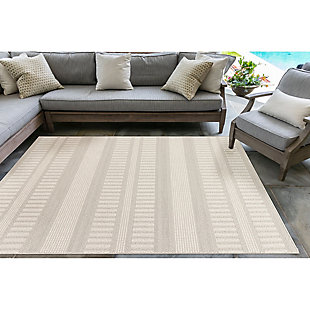 "Liora Manne Westbrook Tailor Stripe Indoor/Outdoor Rug 39"" x 59"", , rollover"
