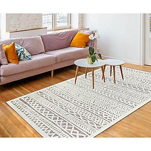 "Liora Manne Taloni Bengal Stripe Indoor/Outdoor Rug 39"" x 59"", , rollover"