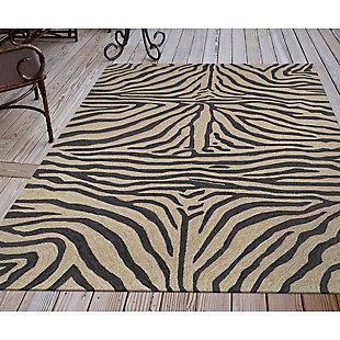 "Liora Manne Highlands Safari Indoor/Outdoor Rug 42"" x 66"", Black, rollover"
