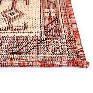 "Liora Manne Mateo Tribal Indoor/Outdoor Rug 4'10"" x 7'6"", Red, large"
