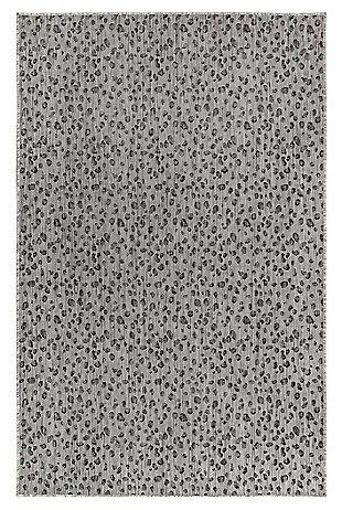 "Liora Manne Mateo Panthera Indoor/Outdoor Rug 4'10"" x 7'6"", Gray, large"