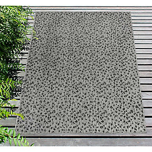 "Liora Manne Mateo Panthera Indoor/Outdoor Rug 4'10"" x 7'6"", Gray, rollover"