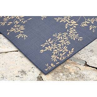"Home Accents 4'10"" x 7'6"" Indoor/Outdoor Rug, Blue, rollover"