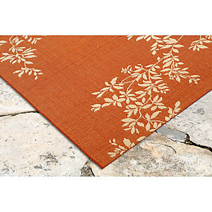 "Home Accents 7'10"" x 9'10"" Indoor/Outdoor Rug, Orange, large"