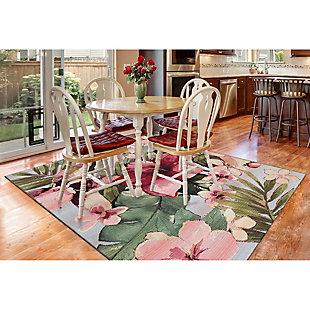 "Liora Manne Gorham Island Blooms Indoor/Outdoor Rug 4'10"" x 7'6"", Multi, rollover"