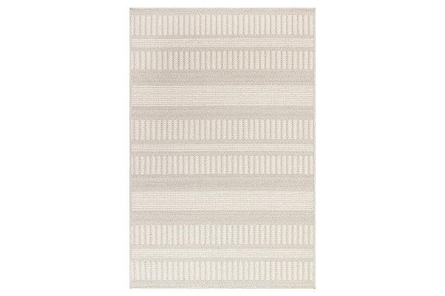 "Liora Manne Westbrook Tailor Stripe Indoor/Outdoor Rug 4'10"" x 7'6"", Khaki, large"