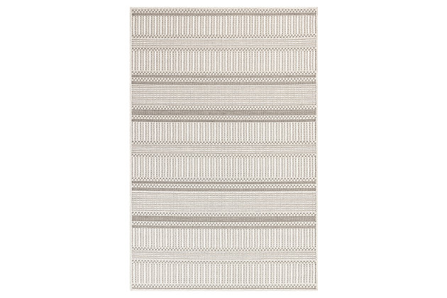 "Liora Manne Westbrook Tailor Stripe Indoor/Outdoor Rug 4'10"" x 7'6"", Gray, large"