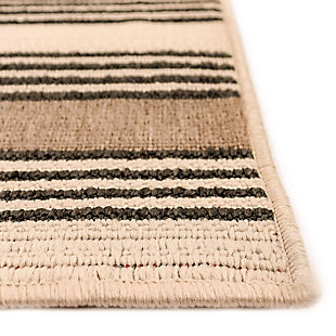 "Liora Manne Gilee Ribbons Indoor/Outdoor Rug 4'10"" x 7'6"", Tan, large"