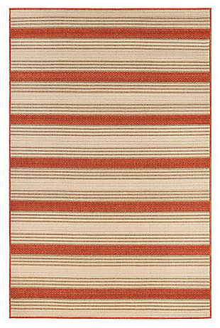 "Liora Manne Gilee Ribbons Indoor/Outdoor Rug 4'10"" x 7'6"", Red, large"