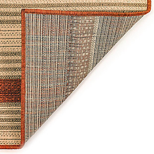 """Liora Manne Gilee Ribbons Indoor/Outdoor Rug 4'10"""" x 7'6"""", Red, large"""