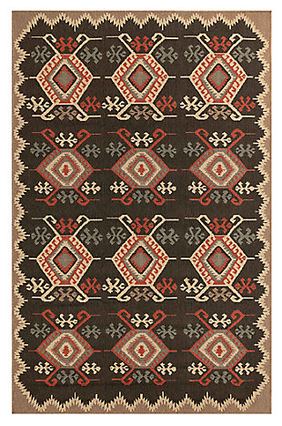 "Liora Manne Gilee Turkic Indoor/Outdoor Rug 4'10"" x 7'6"", Black, large"
