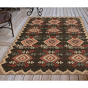 "Liora Manne Gilee Turkic Indoor/Outdoor Rug 4'10"" x 7'6"", Black, rollover"