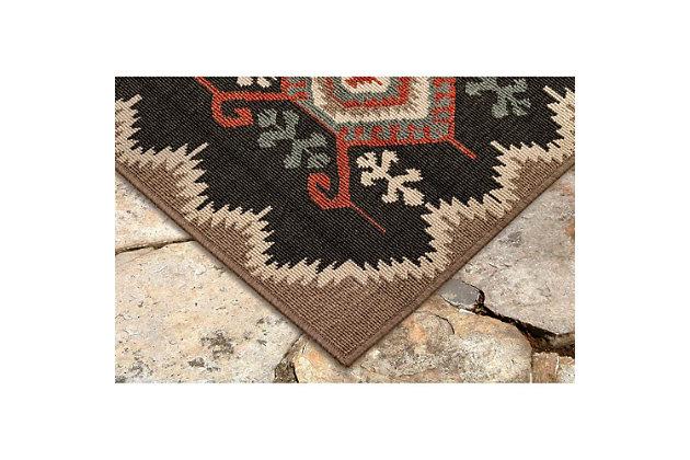 "Liora Manne Gilee Turkic Indoor/Outdoor Rug 4'10"" x 7'6"", Black, large"