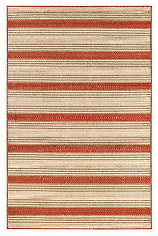"""Liora Manne Gilee Ribbons Indoor/Outdoor Rug 6'6"""" x 9'3"""", Red, large"""