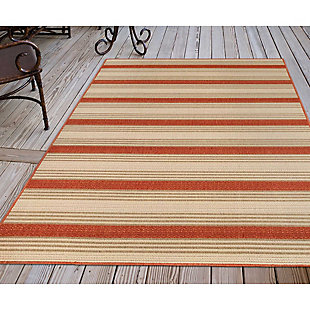 """Liora Manne Gilee Ribbons Indoor/Outdoor Rug 6'6"""" x 9'3"""", Red, rollover"""
