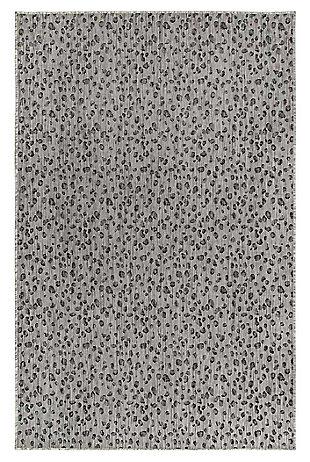 "Liora Manne Mateo Panthera Indoor/Outdoor Rug 6'6"" x 9'4"", Gray, large"