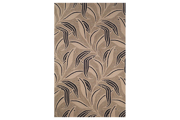 "Home Accents 5' x 7'6"" Indoor/Outdoor Rug, Brown, large"