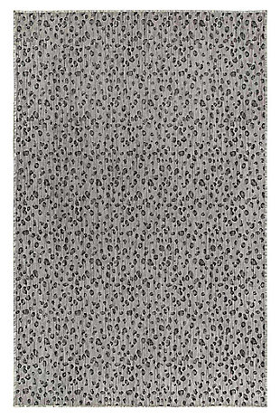 "Liora Manne Mateo Panthera Indoor/Outdoor Rug 7'10"" RD, Gray, large"