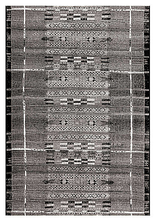 "Liora Manne Gorham Decorative Stripe Indoor/Outdoor Rug 7'10"" x 9'10"", Gray, large"