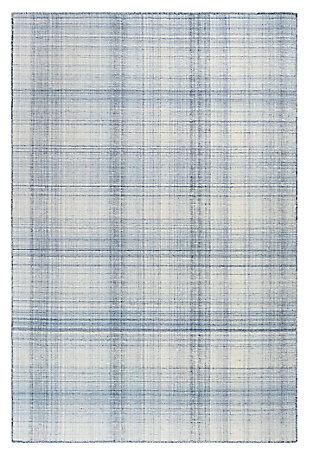 """Liora Manne Westbrook Tailor Stripe Indoor/Outdoor Rug 7'10"""" x 9'10"""", Blue, large"""