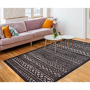 "Liora Manne Taloni Bengal Stripe Indoor/Outdoor Rug 7'10"" x 9'10"", Gray, large"