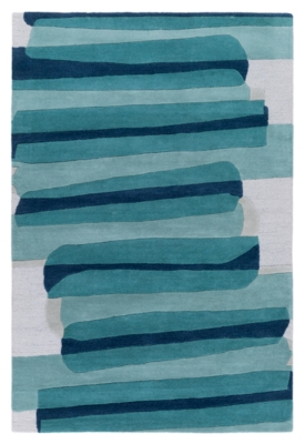 """Ashley Home Accents 5' x 7'6"""" Rug, Blue"""