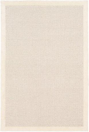 "Hand Tufted Siena 5' x 7'6"" Area Rug, Cream/Light Gray, large"