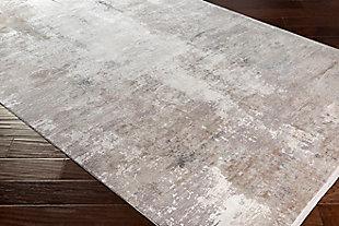 "Machine Woven Solar 5' x 7'6"" Area Rug, Taupe/Medium Gray/White, large"