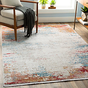 "Machine Woven Solar 5' x 7'6"" Area Rug, Multi, rollover"