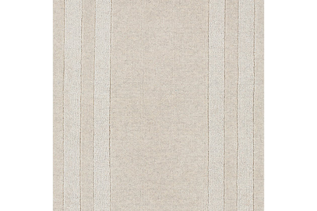 Hand Tufted Sorrento 2' x 3' Doormat, Ivory/Taupe, large
