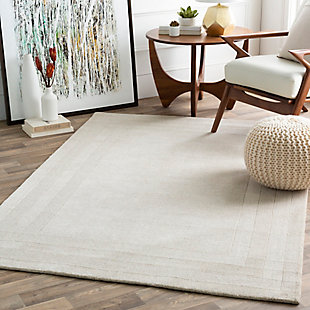 """Hand Tufted Sorrento 5' x 7'6"""" Area Rug, Ivory/Taupe, large"""