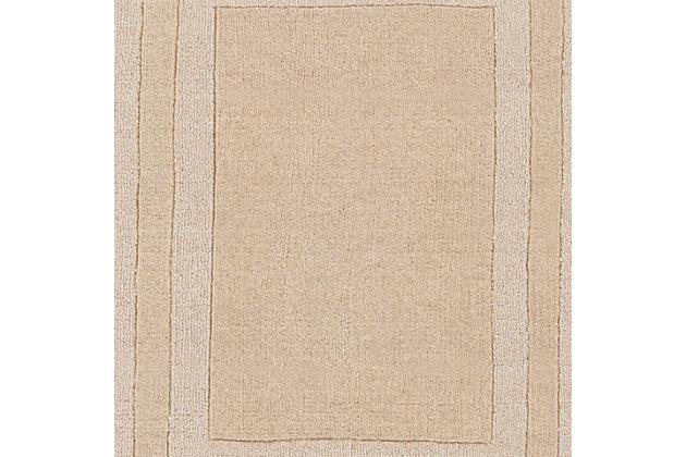 Hand Tufted Sorrento 2' x 3' Doormat, Khaki, large