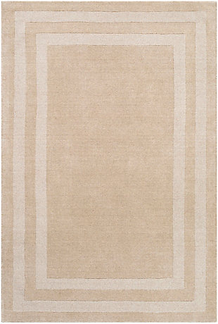 "Hand Tufted Sorrento 5' x 7'6"" Area Rug, Khaki, large"