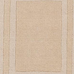 "Hand Tufted Sorrento 5' x 7'6"" Area Rug, Khaki, large"