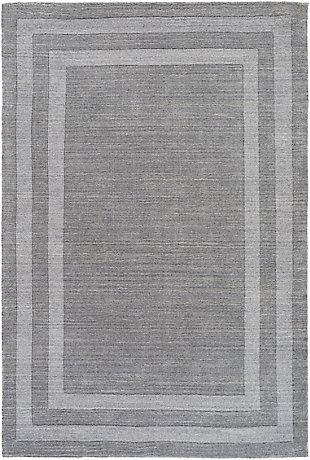 Hand Tufted Sorrento 2' x 3' Doormat, Medium Gray, large