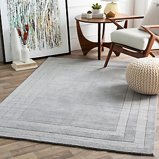 "Hand Tufted Sorrento 5' x 7'6"" Area Rug, Medium Gray, large"